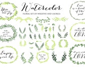 Laurels clipart, Ribbons, Wreaths, Banners, Arrows. Clip art for scrapbooking, wedding invitations, Small Commercial Use