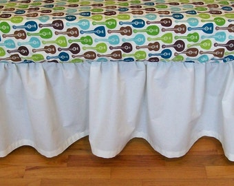 Organic Crib Skirt, Custom Crib Skirt, Gathered Crib Skirt, Solid Color Crib Skirt, Organic Crib Bedding, Toddler Bedding, Organic