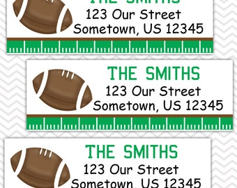 Football - Personalized Address labels, Stickers
