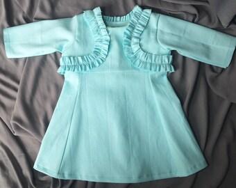 SALE Mint Blue Baby Dress size 12-24 months
