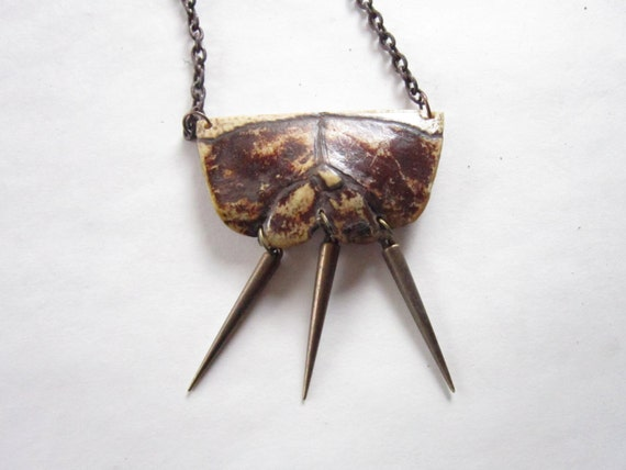 Peace love and turtle shell necklace w by rainbownativetraders for Real tortoise shell jewelry