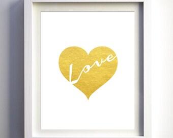 Heart Wall Decor gold heart wall art | etsy
