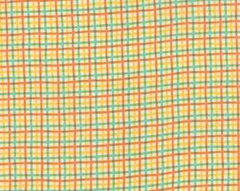 Moda - Block Party by Sandy Gervais Plaid in Orange 17814-11 by the Yard