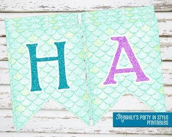 INSTANT DOWNLOAD - Mermaid Banner