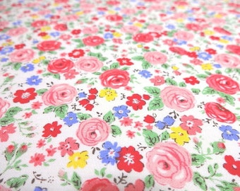 Japanese Fabric Mini Flower Rose Pink Fat Quarter