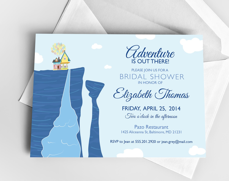 Paradise Falls up Drawing Disney up Bridal Shower