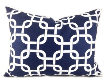 60% CLEARANCE SALE Navy Lumbar Pillow Covers Decorative Pillows Navy Pillow Premier Prints Gotcha Navy Blue