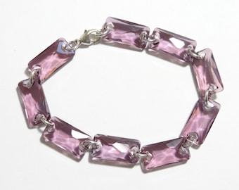 Sparkling Amethyst Swarovski Bracelet