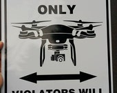Drone Pilot Parking Only Sign