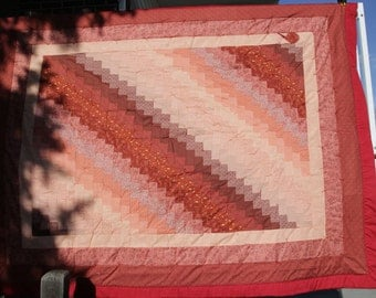 Peach and Rust Quilt