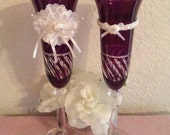 Champagne Toasting Flutes....Wedding....Anniversary....Event