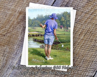 Ladies Golf Notecards - Lady Golfer - Ladies Golf Gifts - Ledgestone Golf Notecards - Golf Notecards - Ladies Golf Accessories