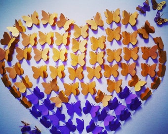 Ambre Effect Butterfly Guest Book. Any Color.
