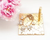 Glamorous Gold Tray | Vanity Tray | Jewelry Tray | Makeup Tray | Home Decor | Modern Home Decor | Gold Home Decor | Gold Tray | Luxe Home