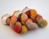 Hand dyed yarn pick your base - Lifesaver - sw merino cashmere nylon fingering dk worsted