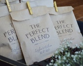 Coffee Favor Bags, Wedding Favors ,Favors Bag for Coffee Bars Personalized for your Bridal Shower or Wedding