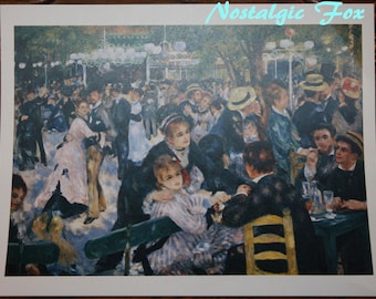 Vintage Lithograph PIERRE AUGUSTE RENOIR Dance at the Moulin~Printed in France