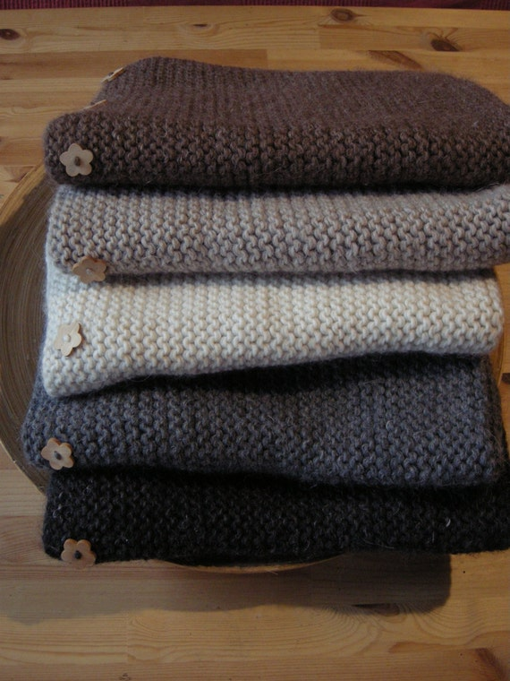 Baby blanket - alpaca, wool & linen - natural baby - pick your color - made to order- free shipping worldwide