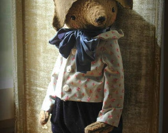NEW PDF E-pattern for 16 inch Artist Teddy Bear Mark plus the pattern for the outfit and Napoleon Hat pattern includedby Sasha Pokrass.