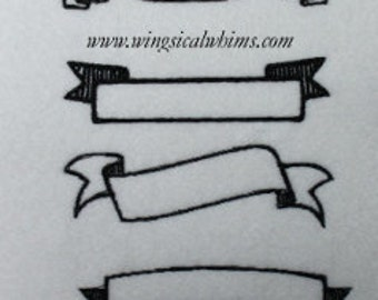 Banner Set Digitized Machine Embroidery Design