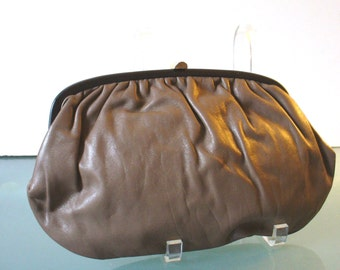 Vintage Made in Italy Cocoa Brown Clutch Bag