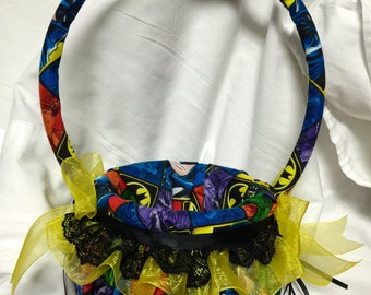 custom Colorful Batman Flower Girl Basket