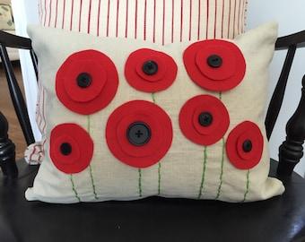 Poppy Pillow COVER