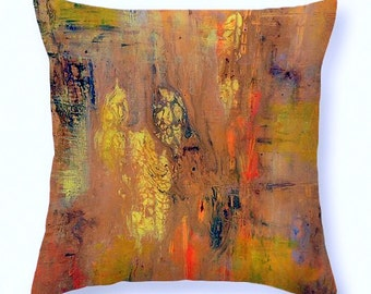 Abstract Art Throw Pillow.featuring my original artwork printed on custom size pillow