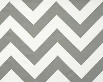 Zippy Chevron Zig Zag Chevron Twill Storm Premier Prints Home Decor Fabric by the yard