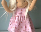"Princess Polly, Waldorf inspired doll with sculpted face, 17"" tall"
