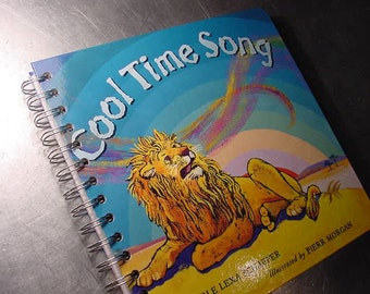 POETRY JOURNAL Cool Time Song  Vintage Book Altered Recycled