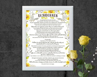 Desiderata - Inspirational Quote - Printable Art - Printable Quote - Instant Download - Office Art - Motivational Quote - Quote Printable