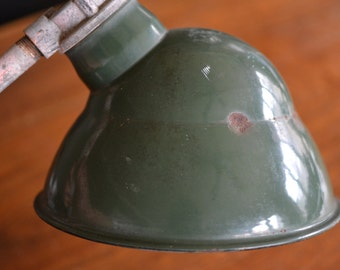 Vintage Green Enamled Lamp Shade