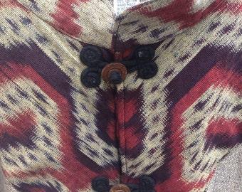 Vintage Ikat Woven Coat