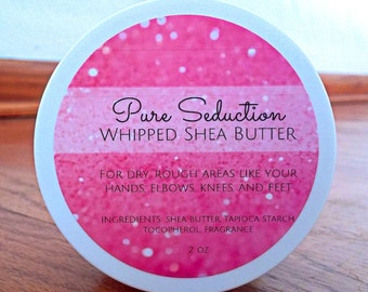 Whipped Shea Body Butter with Vitamin E -- Pure Seduction -- 4 oz Jar