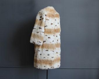 Spotted Authentic Fur Coat.  Size Medium