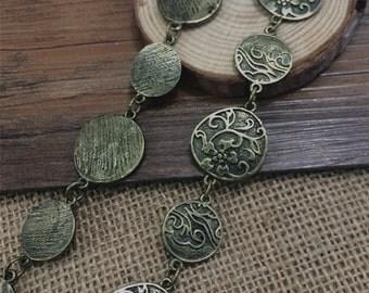 98cm antique bronze Chain 24mm wide
