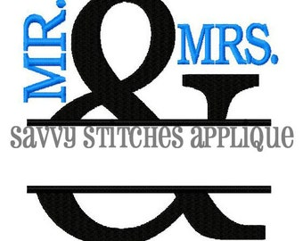 Split Ampersand Embroidery Design Fill Stitch