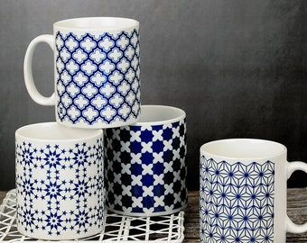Set Of Four Moroccan Style Mugs