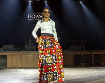 African Batik Wax Print Maxi Skirt.......Choose a print