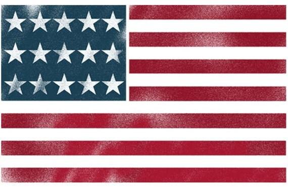 pochoir de drapeau am ricain usa flag art mural toile