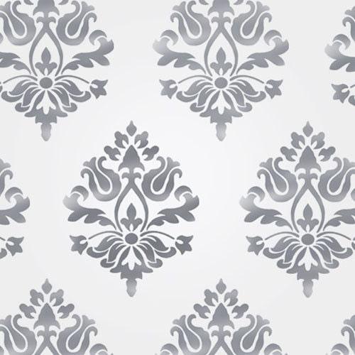stencil muro decorazioni pareti : Stencil decorazioni pareti damascate stencil di IdealStencils