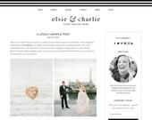 """Blogger Template Premade Blog Design - """"Elsie & Charlie"""" Blogger Theme"""