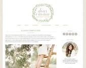 "Blogger Template Premade Blog Design - ""Dear Emma"" Blogger Theme"