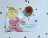 DIY - Instant Download - Blond Princess - A Lollipop for you (Editable Valentine's Printable Digital Card)