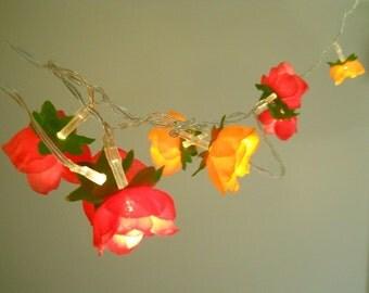 Flower Fairy Light - Orange and Pink