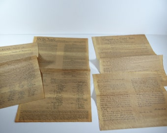 Popular items for declaration of independence on etsy for 4 documents of freedom 1956