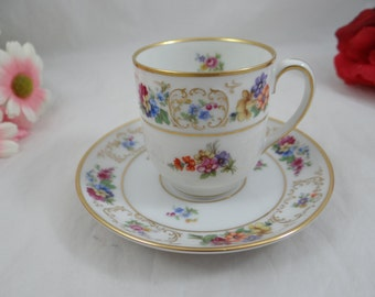 Vintage  Bavaria Tirschenreuth Demittasse Cappuccino Teacups and Saucers  - 4 available - German Tea Cup