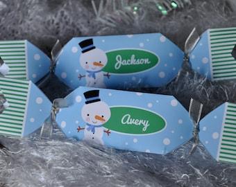 Christmas cracker bon bon triangle favor box / candy gift box / personalized place setting PDF printable digital file DIY craft decoration