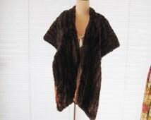 Vintage mink stole, luxurious mink cape, long mink, real genuine fur, 50s 60s fur